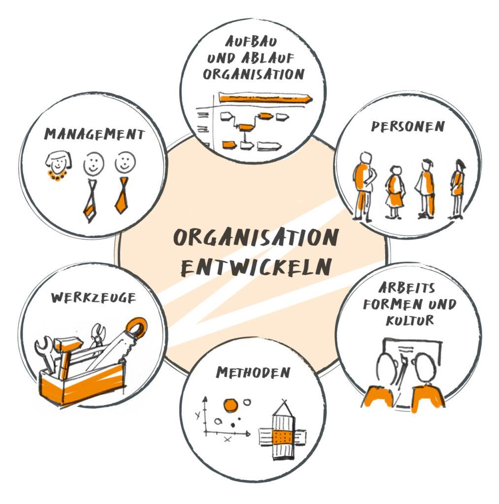 Krehl & Partner Organisationsentwicklung und ihre Gestaltungsfelder